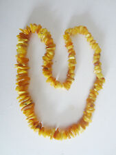 Massive Honey-color 100-gram Baltic 27-inch Long Amber Necklace From Lithuania