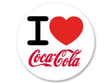 Pin Button Badge Ø38mm I Love J'Aime Coca Cola Soda