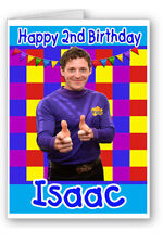 Wiggles Wiggly Boy Girl Personalised Birthday Card - Any Name & Age