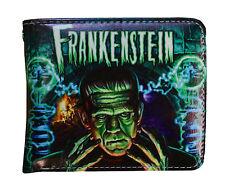 Men's Rock Rebel Dr Frankenstein Classic Monster Halloween Bi-Fold Black Wallet