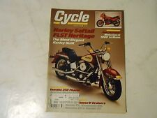 MARCH 1986 CYCLE MAGAZINE,HARLEY SOFTTAIL FLST HERITAGE COVER,MOTO GUZZI 1000