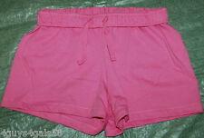Girls Fold Down Shorts Pink Elastic Drawstring L 10-12