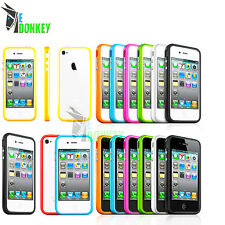 BUMPER CUSTODIA CASE COVER FOR IPHONE 4 4S SLIM TPU SILICON