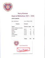 HARRY KINNEAR HEART OF MIDLOTHIAN 1971-1974 ORIGINAL HAND SIGNED CUTTING/CARD