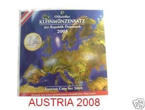 2008 Austria 8 monete euro Autriche Osterreich