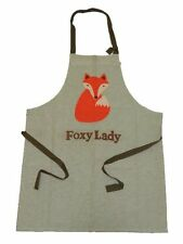 RETRO MR FOX - FOXY LADY APRON FABRIC BRAND GREAT GIFT COOKING BAKING