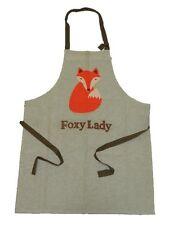 Retro el señor Fox-Foxy Lady Delantal Tela Marca Gran Regalo De Cocina Baking