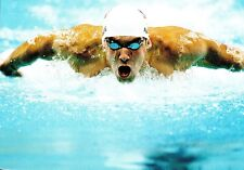 (09232) Postcard - Olympic Games Swimming 2008 Beijing - Michael Phelps