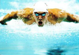 (09232) Postcard - Olympic Games Swimming 2008 Beijing - Michael Phelps