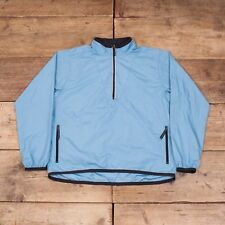 Womens Vintage Nike Blue Polyester Half Zip Windbreaker Jacket Large 12 14 R8052