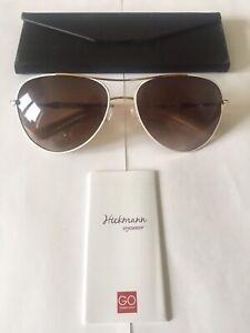 Hickmann Aviator Sunlasses Model HI3018 in Colour 04A White/Gold,Brown Lenses