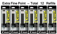 Pilot G2 Gel Ink Refill for Rolling Ball Pens, Extra Fine Point, Black Ink (P...