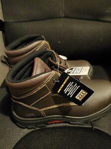 "Skechers Steeltoe Work Boots ""New With Tags"" slip resistant/defined heel Sz 12"