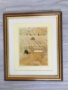 """Honey Oak Style Picture Frame With Gold Detail +mount 12x10"""" Fit Picture 10x12"""""""