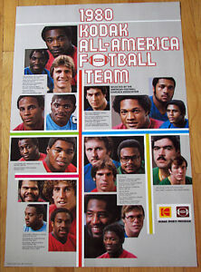 1980 NCAA Kodak All-American Football Team Poster