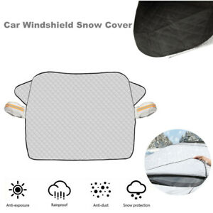 Car SUV Windshield Snow Cover with 2 Layer Protection Aluminum Film Universal