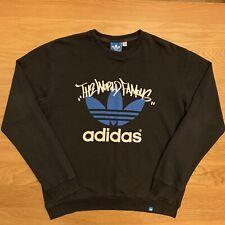 Adidas Originales Jumper spellout Retro Sudadera Negro Xl