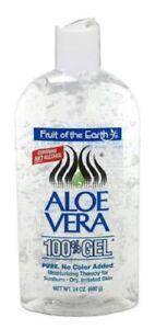 3PACK Fruit Of The Earth Aloe Vera 100% Gel, Crystal Clear 24oz 071661120246YN