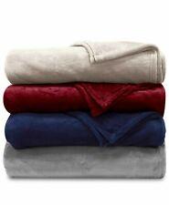 RALPH LAUREN Home Classic Soft MicroMink Plush Bed Blanket FULL/QUEEN  Navy