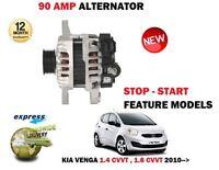 Para Kia Venga 1.4 1.6 CVVT Gasolina 2010- > Nuevo 90A Alternador Unidad -