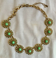 J Crew Statement Necklace Green And Gold