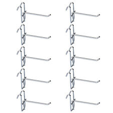 10PCS Supermarket Market Shelf Hook Mesh Grid Bracket Hole Board Organizer Hooks
