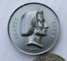 Franz Liszt  bronze medal, Concert in Paris, the Italian theater in 1844