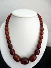 Antique AMBER Beads Necklace 56 grams