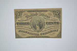 3 Cents- Third Issue Fractional Note- Crisp AU or better.