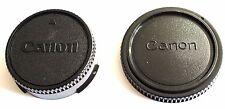 Canon FD Objektiv Rückdeckel & Gehäuse Deckel  Rear Lens & Body Cap FD