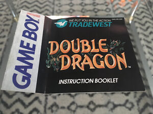 Double Dragon (Nintendo Game Boy, 1990) Manual Only Instruction Booklet Book GB