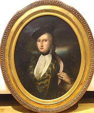 Fine Large 18th Century German Austrian Lady Portrait Antique Oil Painting
