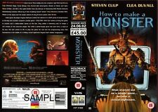How To Make A Monster, Horror, VHS Promo Sample Sleeve/Cover #8114