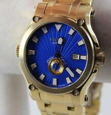 Renato Men's Calibre Robusto Watch, Swiss Ronda 1019, Blue, Goldtone, Ltd Prod