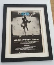 AC/DC*Blow Up Your Video*1988*ORIGINAL*POSTER*AD*FRAMED*FAST WORLD SHIP