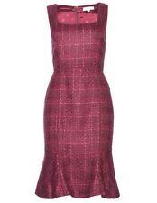 NWT Tory Burch Drew Tweed Sheath Dress Dark Plum $375 – 2
