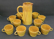 RARE Malibu 11 pc Pitcher with Cups Rindge Family California