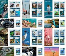 Animals Birds Marine Fauna Seals Tigers Solomon Islands 12 MNH sheets stamp set