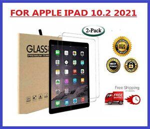 "2X Apple iPad 10.2"" 2021 9th Generation HD Tempered Glass Film Screen Protector"