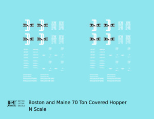 K4 N Decals Boston and Maine Covered Hopper Black and White