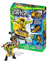 Mega Bloks Teenage Mutant Ninja Turtles Mikey Turbo Board #Dpf76 34 Pcs Nip
