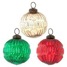 Raz Imports Classic Christmas Ball Ornament Set of three