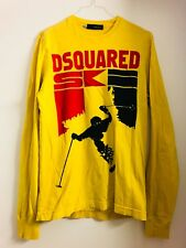 """AWESOME 100% AUTHENTIC DSQUARED² YELLOW """"SKI"""" LONGSLEEVE SHIRT FROM F/W 2008"""