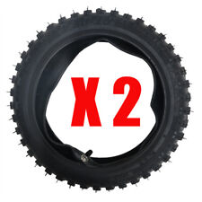 Front Rear 2.50-10 Tire + Tube 2.5-10 Tyre for DRZ70 TTR50E PW50 CRF50F