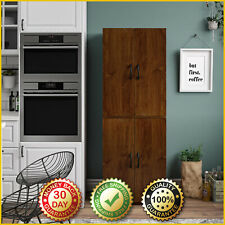 4 DOOR STORAGE Tall Kitchen Cabinet Pantry Organizer Cupboard Furniture Shelves