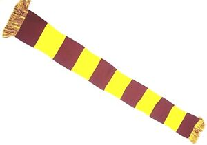 Harry Potters Scarf Colours Bar Scarf Cramberry & Gold