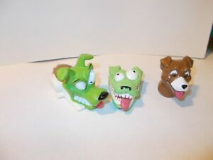 """2 Taco Bell Figures 1997 / 1995 The Mask MOVIE ~""""Milo the Dog"""" Applause/New Line"""