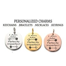 Perfectly Imperfect Charm Personalized Charm Custom Charms for Necklace&Bracelet