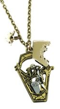 Nightmare Before Christmas Jack and Sally RIP Coffin Metal Pendant NECKLACE