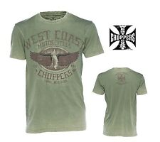 "West Coast Choppers T Shirt Modell Wings oliv "" Neu"" in den Größen S-XXXL"